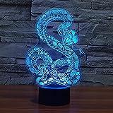 3D-Illusionslampe Tier Python-Modellierung Nachtlicht für Kinder Jungen Mädchen LED...