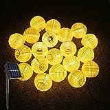 LED Solar Lichterkette Lampions, ALED LIGHT IP65 Wasserdicht 5 Meter 20er LED Lampions Laterne...