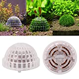 FOTABPYTI Aquarium Kunststoff Moos Ball, Aquarium Aquarium Funktionale lebende Pflanzenhalter...