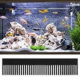 Schwarzer Aquarium Weir Kamm, Acrylüberlaufkammer Fisch Interceptor Wehrkammwasser für...