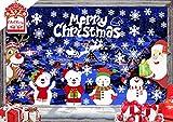 CheChury Schneeflocken Fensterbilder Weihnachtsmann Elk Weihnachten Aufkleber Fenster Netter...