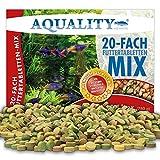 AQUALITY Aquarium 20 Sorten Futtertabletten Mix 1 Liter (Tägliche Futterabwechslung,...