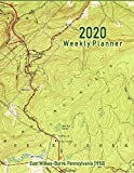2020 Weekly Planner: East Wilkes-Barre, Pennsylvania (1950): Vintage Topo Map Cover