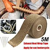Verpackung Tape Tools Abgaswärme Wrap Manifold Downpipe Hochtemperaturisolierung Bandage...