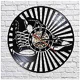 wtnhz LED-Schallplattenwanduhr Wanduhr Vinyl Schallplatte Retro Geschenk Style Raum Home...