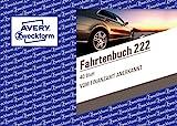 AVERY Zweckform 222 Fahrtenbuch fr PKW (vom Finanzamt anerkannt, A6 quer, auf 80 Seiten fr insgesamt...