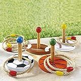 Ring-Wurfspiel, 12 Teile, Freizeitspaß, Gartenspiel, mit Ringen, Geschicklichkeitsspiel, 4...