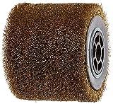 Fartools 110874 Drahtbürste für Schleifmaschine REX120, Durchmesser: 120mm, Schwarz