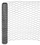 Garmix Sechseckgeflecht 50mm Verzinkt Kaninchendraht 1,0mm Volierendraht (150cm, 50m)