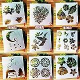 BLUGUL Journal Zubehör Schablonen, Zeichenschablonen Muster, für DIY Geschenkkarten, Fotoalbum,...
