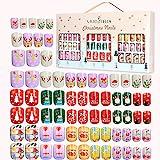 Falscher Nagel für Kinder Preglued Kunstnägel Weihnachten Design Gefälschte Nägel Drücken Sie...