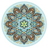 Wildleder-Gummi-Yogamatte, runde bedruckte Meditationsmatte , Rutschfeste Yogamatte...