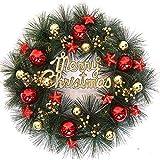 B/H Weihnachts Girlande Kränze,Weihnachtskranzdekoration, Türkranz-A_40cm,tannenkranz künstlich...