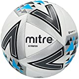 Mitre Ultimatch Fußball Spielball, White/Silver/Blue, 4