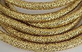 Schnur/Kordel/Flechtleine - Länge 10 Meter - Durchmesser ca.7.5mm - Fb. Gold glitzernd/glänzend -...