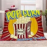 LHUTY Bedding Flanelldecke Popcorn 180x200 cm 3D-Druckdecke...