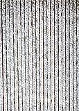 habeig Türvorhang Flauschvorhang Flauschi Chenille Insektenschutz Uni-Farben (grau/Weiss, 90 x 220...