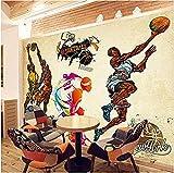 Tapete Fototapeten Poster Kundenspezifische 3D-Stereo-Sport Wallpaper Gym Yoga Basketball Stadium...