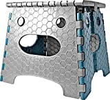 STARK Hocker/Klapphocker/Tritthocker mit Griff, zusammenklappbar, bis 100 kg, Höhe 26,8 cm in grau-...