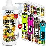 C.P. Sports Getrnke Sirup zuckerfrei, Getrnk 1:80 + Dosierpumpe und Trinkflasche, Getrnkekonzentrat...