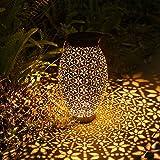 Görvitor Solarlaterne für Außen, Metall Solar Laterne Hängend, IP65 Wasserdicht LED Dekorative...