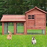 zooprinz Perfekter Kleintierstall - aus robustem massiven Vollholz - optimal für draußen - einfach...