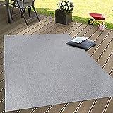 Paco Home In- & Outdoor Flachgewebe Teppich Terrassen Teppiche Natürlicher Look In Grau,...