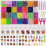 Demeu 11.860 Regenbogen-Gummibänder Twist Loom Set: 11.000 Gummibänder Kits 42 Farben, 500 Clips,...