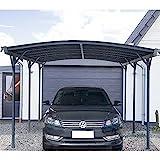 Home Deluxe - Design Carport anthrazit - Falo - Mae: 505 x 300 x 226/240 cm - komplett inkl....