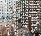 10 x 1M Trvorhang Kristall Girland Crystal Clear Acrylic Bead Garland Trvorhang hngende Partei Dekor...