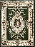 Carpeto Orientteppich Teppich Grün 220 x 300 cm Medaillon Muster Kurzflor Verona Kollektion