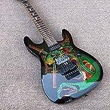 SYXMSM Akustikgitarre für Anfänger, 6 Saiten, Mahagoni-Korpus und schwarze Lackierung, Farbe:...