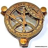 Sabri Home Kompass West London Sonnenkompass, Messing, 10,2 cm