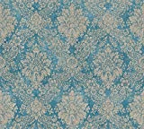 A.S. Création Vliestapete Secret Garden Tapete neo-barock 10,05 m x 0,53 m blau braun metallic Made...